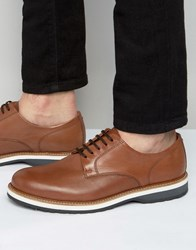Kg By Kurt Geiger Jessop Leather Derby Shoes Tan
