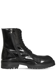 Ann Demeulemeester Lace Up Leather Boots Black