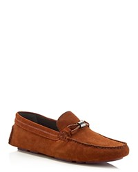 Ted Baker Carlsun Suede Driving Loafers Tan