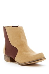 Chase And Chloe Victoria Short Flat Bootie Beige