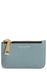 Marc Jacobs Women's 'Gotham' Pebbled Leather Key Pouch Blue Dolphin Blue