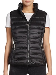 Marc New York By Andrew Marc Performance Metallic Down Fill Puffer Vest Black