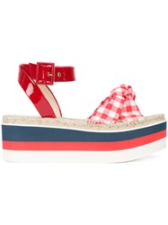 Gucci Stacked Sole Sandals Red