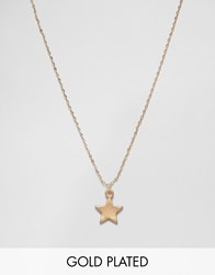 Ny Lon Nylon Star Necklace Gold