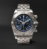 Breitling Chronomat B01 Chronograph 44Mm Stainless Steel Watch Blue