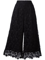 Diane Von Furstenberg Cropped Lace Trousers Black