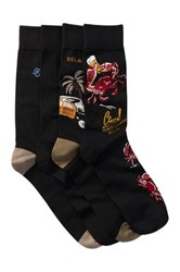Tommy Bahama Relax Crab Crew Socks Pack Of 4 Black