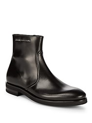 John Galliano Side Zip Leather Boots Black