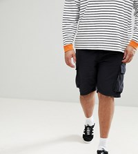 French Connection Plus Military Cargo Shorts Navy