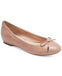 Rockport Women's Total Motion Round Toe Ballet Flats Women's Shoes Pink Snake