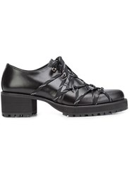 Yohji Yamamoto Elasticated Lace Up Shoes Black