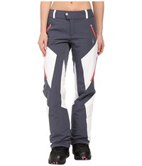 Spyder Thrill Athletic Fit Pants Depth White Bryte Pink Women's Outerwear Blue