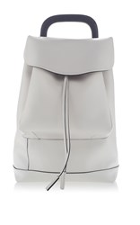 Marni Leather Backpack Light Grey
