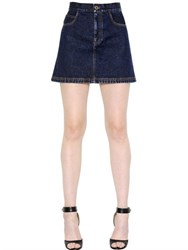 Givenchy Cotton Denim Mini Skirt
