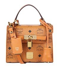 Mcm Mini Heritage Satchel Female Cognac