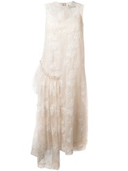 Simone Rocha Tinsel Embroidery Dress Nude Neutrals