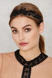 Nasty Gal Skye Sequin Lace Headband
