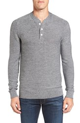 Bonobos Men's Merino Wool Knit Henley Grey Jasper