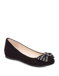 Jessica Simpson Movey Embellished Micro Suede Ballerina Flats Black