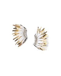 Mignonne Gavigan Mini Madeline Statement Earrings White Golden White Gold