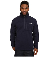 The North Face Gordon Lyons 1 4 Zip Pullover Cosmic Blue Heather Men's Long Sleeve Pullover