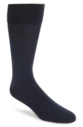 John W. Nordstromr Men's Big And Tall Nordstrom Solid Socks Blue Heather