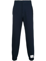 Thom Browne Tech Knit Track Pants Blue