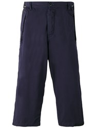 Sacai Cropped Cargo Trousers Blue