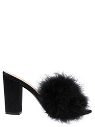 Katy Perry 100Mm Bon Bon Faux Feather And Satin Mules