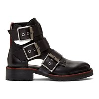 Rag And Bone Black Cannon Buckel Ii Boots
