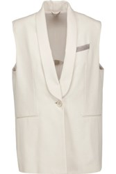 Brunello Cucinelli Stretch Cotton Vest Ecru