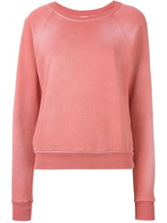 Saint Laurent Washed Sweatshirt Pink And Purple