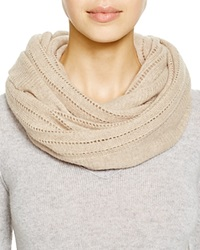 C By Bloomingdale's Open Knit Cashmere Scarf Oatmeal