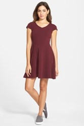 Frenchi V Neck Skater Dress Juniors Purple