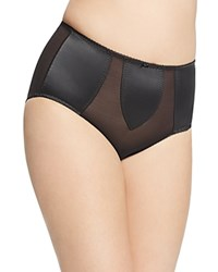 Dita Von Teese Sheer Witchery Satin Control Brief Black