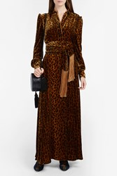 Hillier Bartley Women S Scarf Tie Leopard Print Dress Boutique1