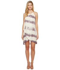 Culture Phit Adora Overwrap Tie Dye Dress Ivory Red Bean Women's Dress White