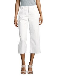 Saks Fifth Avenue Wide Legged Cropped Pants White