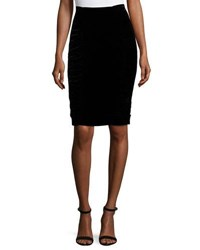 Nanette Lepore Velvet Pencil Skirt Black