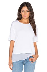 Heather Silk Lined Tee White