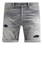 Only And Sons Onsloom Denim Shorts Light Grey Denim