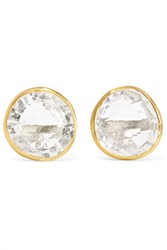 Pippa Small 18 Karat Gold Crystal Earrings One Size