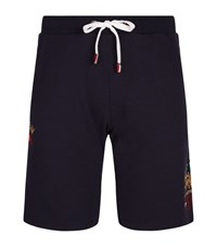 La Martina Fleeceback Cotton Logo Sweat Shorts Male Navy