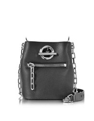 Alexander Wang Riot Black Refined Pebble Leather Crossbody Bag