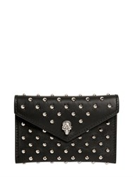 Alexander Mcqueen Skull Studs Nappa Leather Card Holder