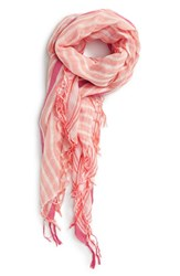 Women's Caslon 'Candy Stripe' Linen Blend Wrap