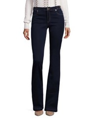 Michael Michael Kors Buckle Detail Flared Jeans Twilight Wash