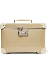 Globe Trotter Champagne 13 Leather Trimmed Fiberboard Vanity Case Gold