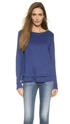 M.Patmos Layered Boat Neck Top French Blue