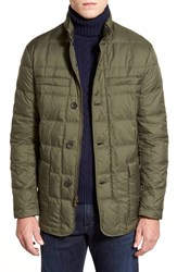 Men's Brooks Brothers 'Alex' Leather Trim Quilted Jacket